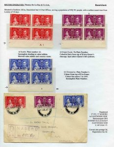 Basutoland 1937 Coronation Page