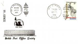 1966 NY & Pitts R.P.O.Railroad+ Mobile Post Office Train Society Cachet #104