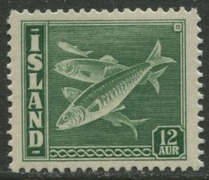 Iceland - Scott 223 - General Issue -1939 - MLH - Single 12a Stamp