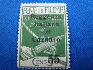 FIUME - QUARNERO ISLANDS - SCOTT # 116 -  MH
