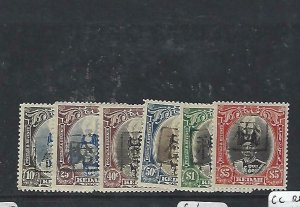 MALAYA JAPANESE OCCUPATION KEDAH (PP3004B) REVENUE SULTAN 10C-50C, $1., $5 MNH
