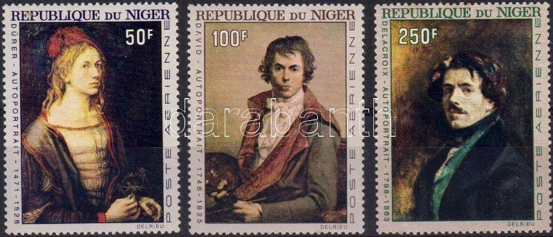 Niger stamp Paintings, self-portraits of famous painters set MNH 1967 WS5457