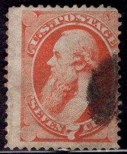 US Stamp #149 7c Vermillion Stanton USED SCV $90