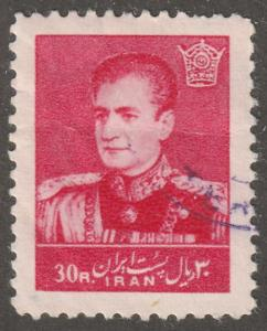 Persia stamp, Scott# 1122, used, hinged, Mohammad Reza Shah Pahlavi V-4