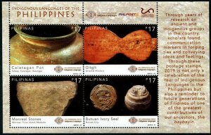 HERRICKSTAMP NEW ISSUES PHILIPPINES Sc.# 3848 Indigenous Languages Sheetlet