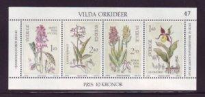 Sweden 1419 1982 Wild Orchids stamp sheet mint NH