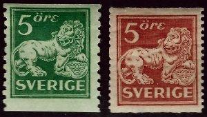 Sweden SC#116-117 Mint F-VF Cat $10.00...steal the deal!!