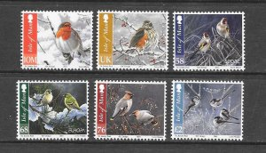 BIRDS - ISLE OF MAN #1455-60   MNH