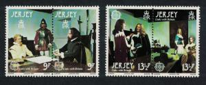 Jersey Europa CEPT 1980 Personalities inks with Britain 2 pairs SG#226-229