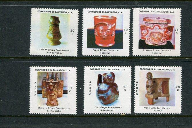 El Salvador MH 875-7,C388-90 Artifacts