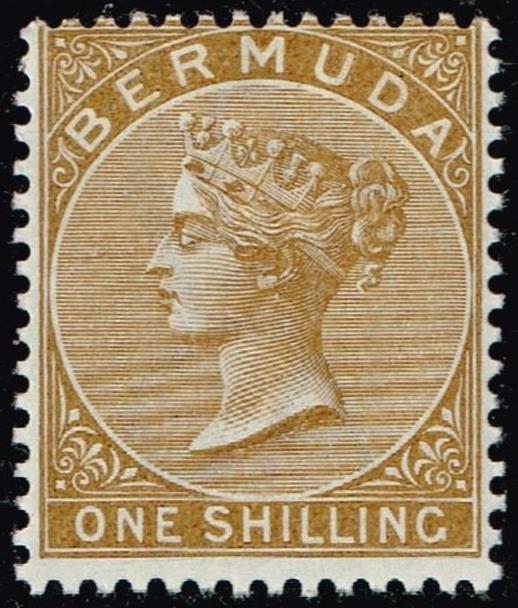 UK STAMP BERMUDA 1884 Queen Victoria 1 SH MH/OG  STAMP