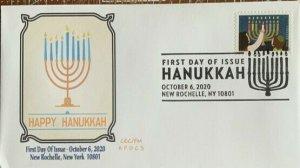 AFDCS 5530 Happy Hanukkah New Rochelle, NY Slogan Cancel 2020