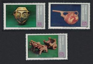 Turkey Regional Co-operation for Development Pottery 3v 1977 MNH