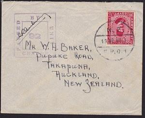 NEW ZEALAND FORCES IN EGYPT 1940 censor cover airmail to NZ.................8983