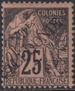 New Caledonia 1892 SC 28 MLH Stamp