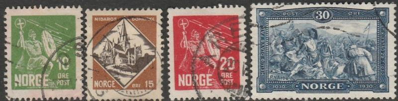 Norway, #150-153 Used,  From 1930