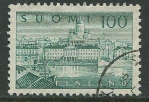 Finland - Scott 257 - South Harbour Helsinki -1958- Used - Single 100m Stamp