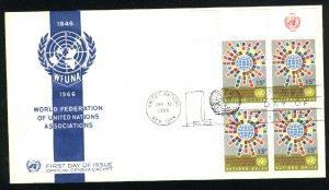 UN New York 155   PB FDC Unused 1966 PD