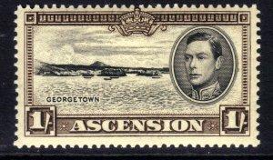 Ascension Island 1938 – 53 KGV1 1/-d Georgetown Umm SG 44 ( F73 )