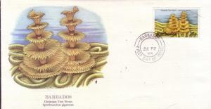Barbados FDC SC# 645 Christmas Tree Worm L9
