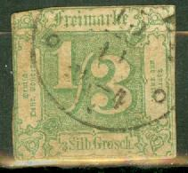 Germany Thurn & Taxis 16 used on piece faults CV $250