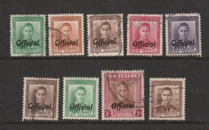 New Zealand a small lot of KGVI Officials used