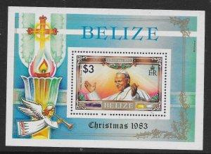 BELIZE SGMS765 1983 CHRISTMAS M/S MNH