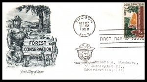 US 1122 Forest Conservation Artmaster Typed FDC
