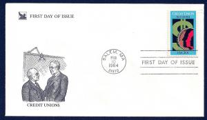 UNITED STATES FDC 20¢ Credit Unions 1984 Readers Digest