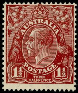 AUSTRALIA SG126, 1½d red-brown, NH MINT.