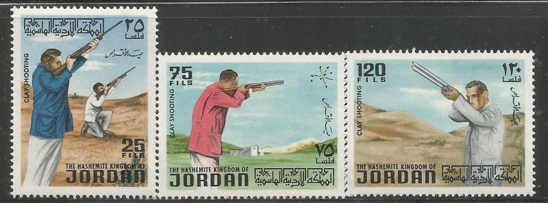 JORDAN 714-716, MNH,  WORLD TRAPSHOOTING CHAMPS