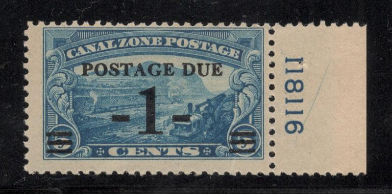 CZ#J21 - Plt.# Single - Postage Due - Unused - O.G.