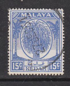 Malaya Kedah 1950 Sc 71 15c Used