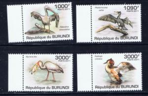 Burundi 867-70 NH 2011 Birds set