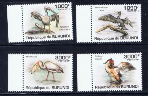 Burundi 867-70 NH 2011 Birds set