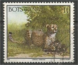 BOTSWANA, 1992, used 1t,  Cheetah Scott 518