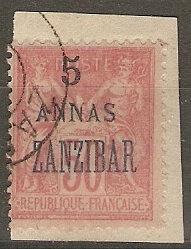 France Off Zanzibar 25Cer 28 UsedF/VF 1896 SCV $32.50