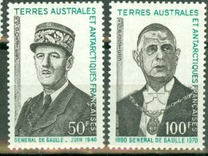 French Southern and Antarctic Territiories 52-3 mint CV $40