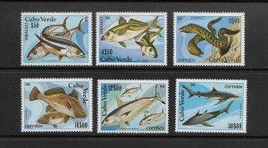 FISH - CAPE VERDE #410-15  MNH