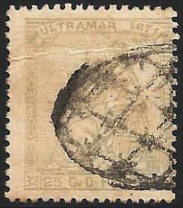 Cuba 1871 Scott# 51 Used (creased)