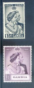 Gambia 1948 Silver Wedding SG164/5 Mounted Mint