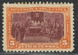 $Argentina Sc#173 M/H/F-VF, DG, Cv. $72.50