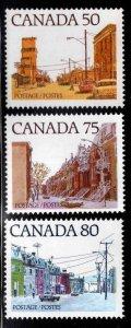 CANADA Scott 723-725 MNH** 1978 Street Scene stamps