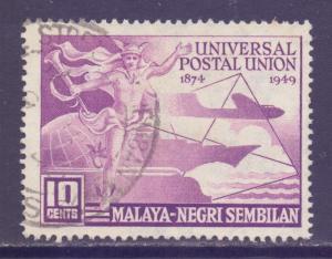 Malaya Negri Sembilan Scott 59 - SG63, 1949 UPU 10c used
