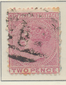 New Zealand Stamp Scott #58, Used, Watermarked Large Star - Free U.S. Shippin...