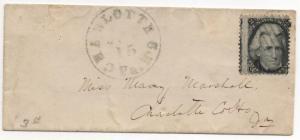 US Scott #85b Blackjack Z-Grill Blue Charlotte VA Marine CDS Weiss Certificate