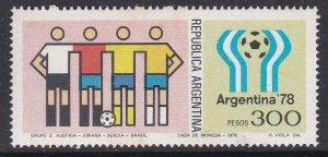 Argentina #1190 single F-VF Mint NH ** Soccer
