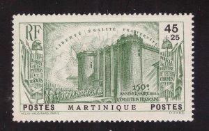 Martinique Scott  B3 MH* 1938 Revolution semi postal stamp