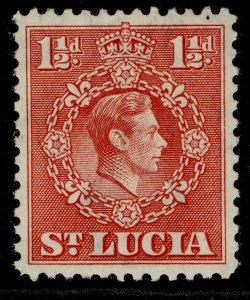 ST. LUCIA GVI SG130a, 1½d scarlet, M MINT.