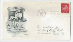 George Washingtons Birthday Cover San Jose CA 1933 Chamber of Commerce Cachet